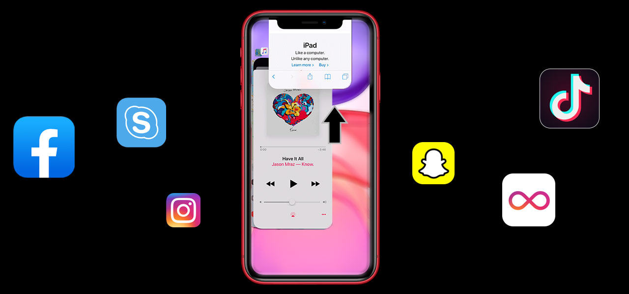 how to close apps on the iphone 11