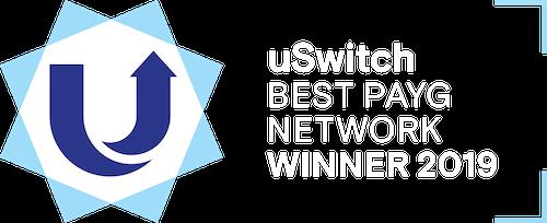 uSwitch Award - Best PAYG Network 2019
