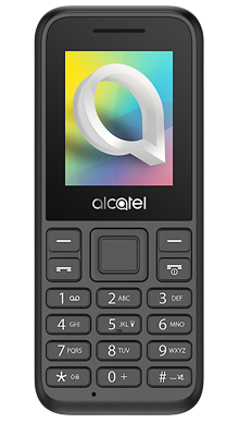 Alcatel 1066 Black Front