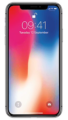Apple iPhone X 64GB Silver Front