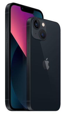 iPhone 13 5G 128GB Midnight Front