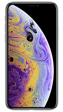 Apple iPhone Xs 64GB Silver Nearly New Front