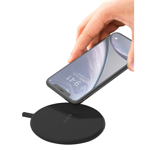Wireless Ultra Slim Charging Pad Black 10W Devia Back