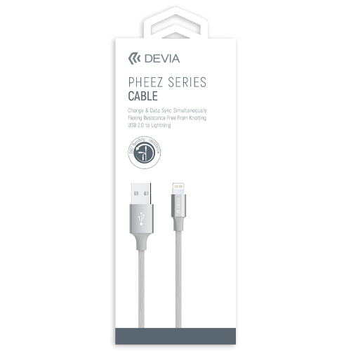 Type C to Lightning Cable 1 Meter White Devia