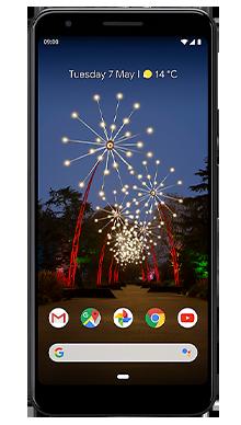 Google Pixel 3a XL 64GB Just Black Front