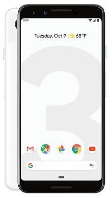 Google Pixel 3 64GB Clearly White + Jays Bluetooth Headphones Black