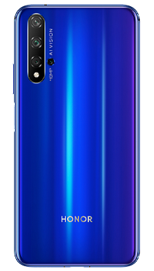 Honor 20 128GB Sapphire Blue Back
