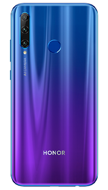 Honor 20 Lite Phantom Blue Back