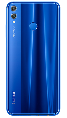 Honor 8X Blue Back