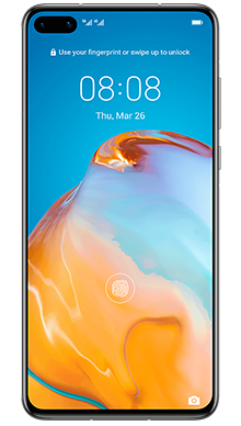 Huawei P40 128GB 5G Midnight Black Front