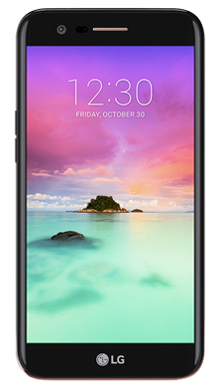 LG K10 2017 Black Front
