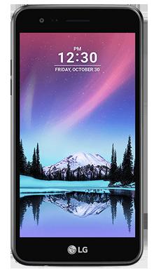LG K4 2017 Black Front