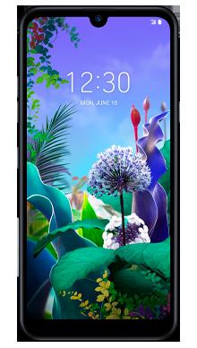 LG Q60 Blue Front