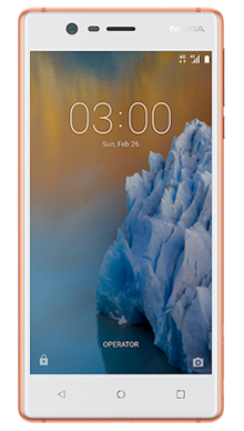 Nokia 3 Copper Front