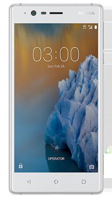 Nokia 3 White Front