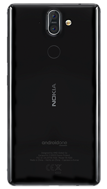 Nokia 8 Sirocco Black Back