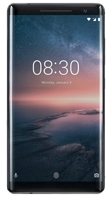 Nokia 8 Sirocco Black Front