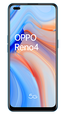 Oppo Reno4 5G 128GB Galactic Blue Front