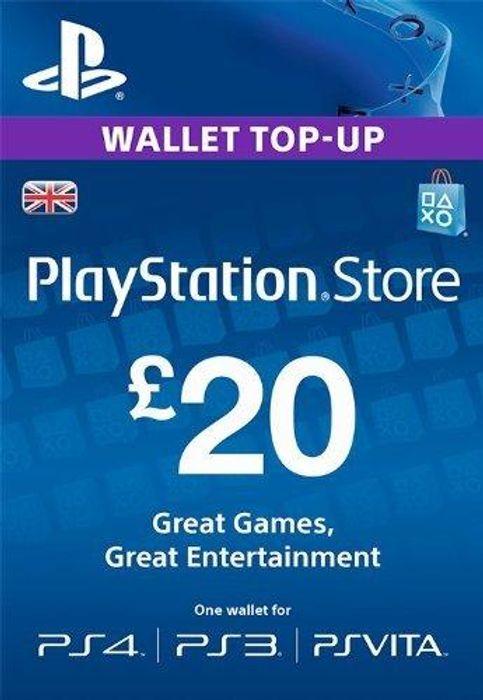 PSN Wallet Top Up - £20.00