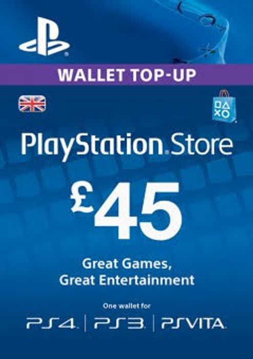 PSN Wallet Top Up - £45.00