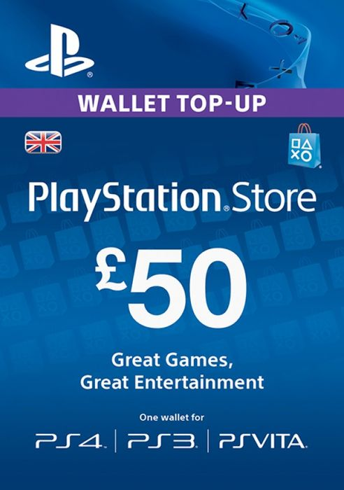 PSN Wallet Top Up - £50.00