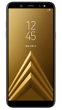 Samsung Galaxy A6 Gold Front