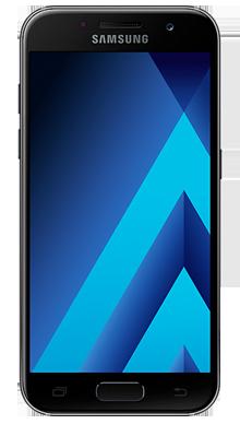 Samsung Galaxy A3 2017 Black Refurb Front