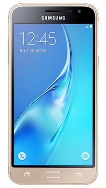 Samsung Galaxy J3 Gold Front