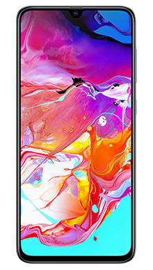 Samsung Galaxy A70 White Front