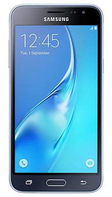 Samsung Galaxy J3 Black Front