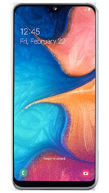 Samsung Galaxy A20e White Front