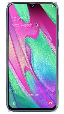Samsung Galaxy A40 Black Front