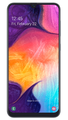 Samsung Galaxy A50 White Front