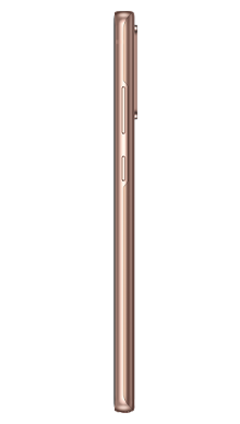 Samsung Galaxy Note 20 5G 256GB Mystic Bronze Side