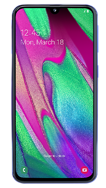 Samsung Galaxy A40 Blue Front
