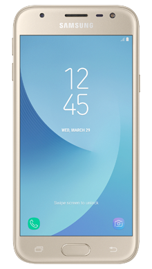 Samsung Galaxy J3 2017 Gold Front