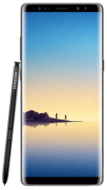 Samsung Galaxy Note 8 Black Front