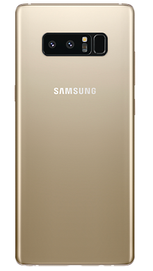 Samsung Galaxy Note 8 Gold Back