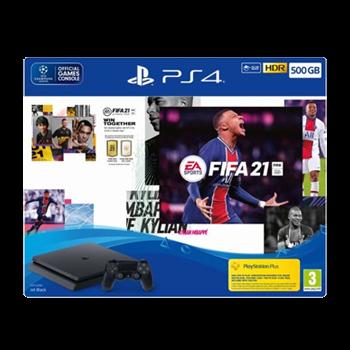 Sony PS4 Black 500GB FIFA 21